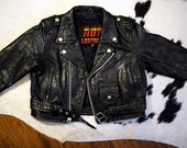 Vintage Harley XL Kids Leather Motorcycle Jacket