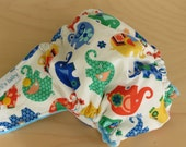 One Size Hybrid Fitted Cloth Diaper - elephant parade