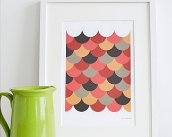 Scallop Giclee Art Print - A4 - Limited Edition - Geometric