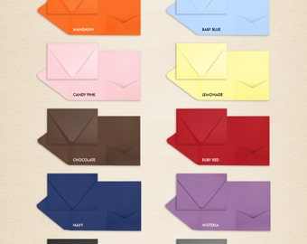 A7 Pocketfold Invitations (5 x 7) - LUX Collection (50 qty.)