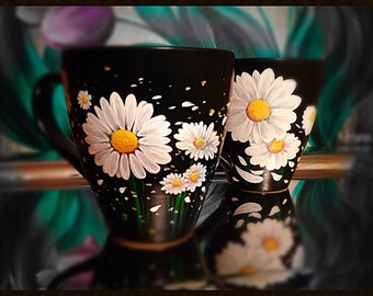 Daisy Mug - Hand Painted Ceramic Mugs