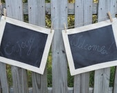 Tailored Chalkboard Placemats- Set of 2