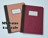 Notebooks for dolls (1:4) MSD-sized - Solid