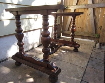 Antique Wood Table Base