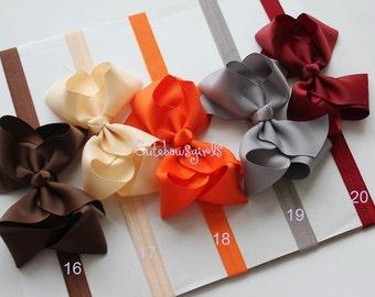 PICK 5 headband  - autumn headbands -  Halloween baby headband - babygirl bow headband - baby girl headband - headpieces - knot bow headband