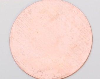 Copper Blanks Circle 1.5 Inch 18ga Pkg Of 6