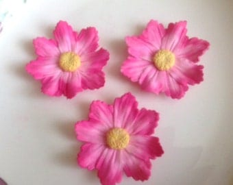 PINK COSMOS WILDFLOWERS  / Gum Paste Flowers  / Edible Cake and Cupcake Decorations