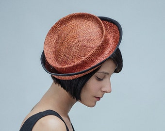 Straw Hat For Women , Straw Fascinator , Straw hat for occasion , Tora