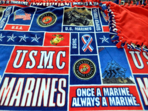 Usmc marine corps fleece tie blanket x large like this item ccuart Images