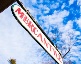 Mercantile Sign Antique Americana