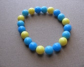 JEWELRY SALE- Girls Bracelet- Beaded Children's Jewelry- Blues and Yellow