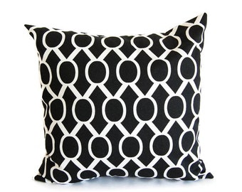 Black throw pillow cover One cushion covers black and white throw pillow covers black modern decor