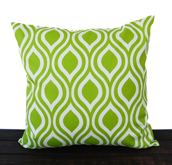 Throw pillow cover chartreuse lime green cushion cover pillow