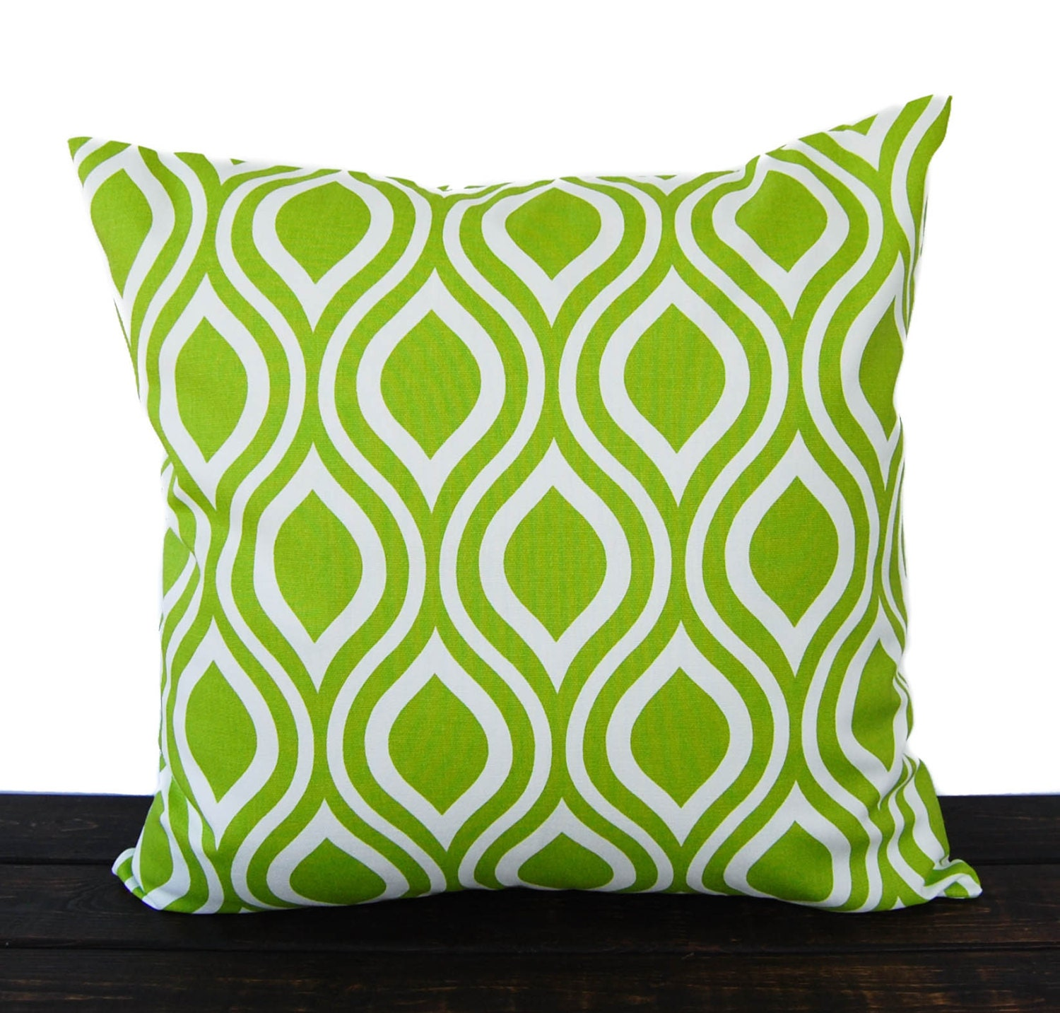 Decorative Pillows In Green : Throw pillow cover chartreuse lime green cushion cover pillow