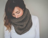 Chunky Knit Cowl // Snood // Pullover // Infinity Scarf // Cowl // Cozy // Taupe // Fashion Accessory // Neck Warmer // Slouchy
