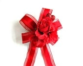 All red Valentine's day bow/ Holiday gift wrap bow/ Valentine holiday bow/ Bow for Valentine's gifts/ Holiday wreath decoration (V47)