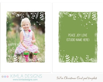 5x7in Christmas Card Template, Christmas 2014