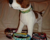 Adjustable custom collar, all sizes and widths.  YOU pick fabric and nylon color.