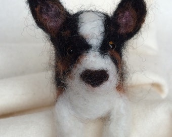 Dog , Wool dog ,Needle felted wool dog; Corgi, Very cute sweet felted Corgi dog.