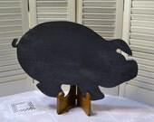 Pig Chalkboard Blackboard  Vintage Wood Rustic Primitive Country Farmhouse Decor Upcycle Recycle Handmade LittlestSister