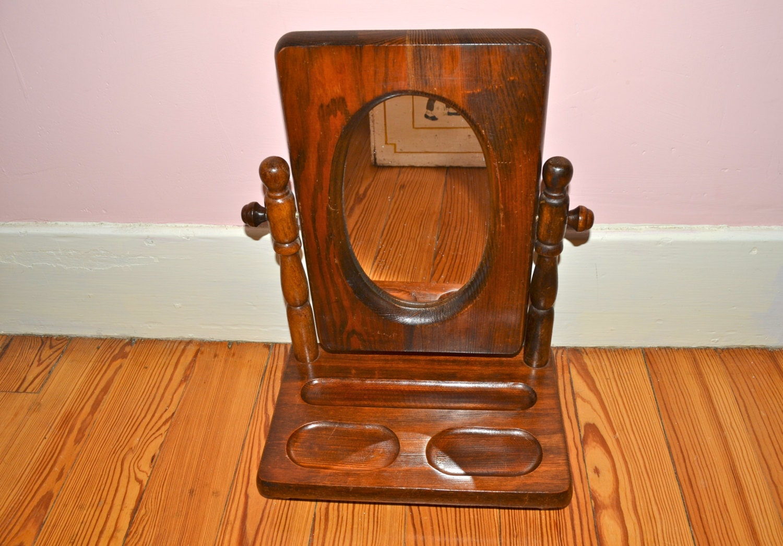 tilting mirror valet bureau top mirror 1970 39 s decor. Black Bedroom Furniture Sets. Home Design Ideas