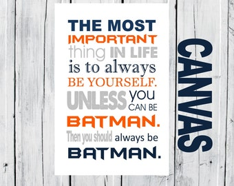 Superhero  CANVAS  - Choose Size and Colors and Background