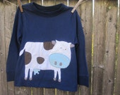 MOOOOO  Goes The Cow Kids T -shirt Farm Animals