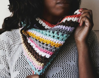 """Ready To Ship!! The """"Marvelous Things"""" Handmade Crochet Cowl. Only 1 Available!"""