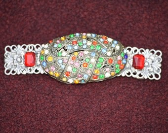Vintage fruit salad brooch barrette