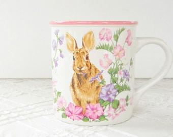 Potpourri  Bunny Coffee Mug, Gift Boxed, Cottage Style, Seasonal, Gift Inspired, Spring