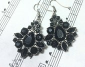 Black and Silver Goth Earrings