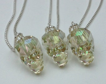 Swarovski Crystal Skull Necklace