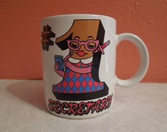 Vintage # 1 Secretary Cartoon Coffee Mug