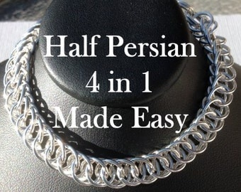Half Persian 4 in 1 Made Easy PDF Chainmaille Tutorial