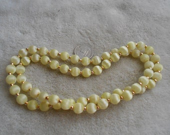 Vintage Necklace- Silk Wrapped Beaded-N1539