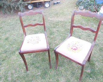 Embroidery Chairs Listing is for One /NOT INCLUDED In Coupon Discount Sale