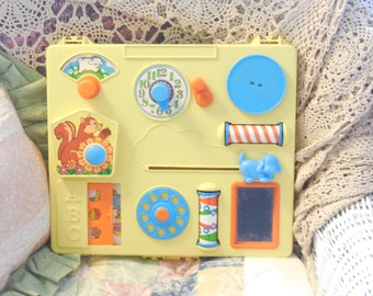 Vintage Baby Toy, Vintage Crib Toy, Gabriel Busy Box Activity Center Crib Toy/1975/S Not Included in Coupon Discount Sale :)S