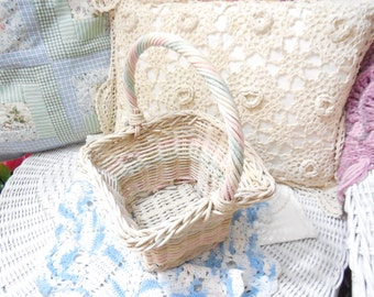 Fun Spring  Pastel Basket with Handle  :)