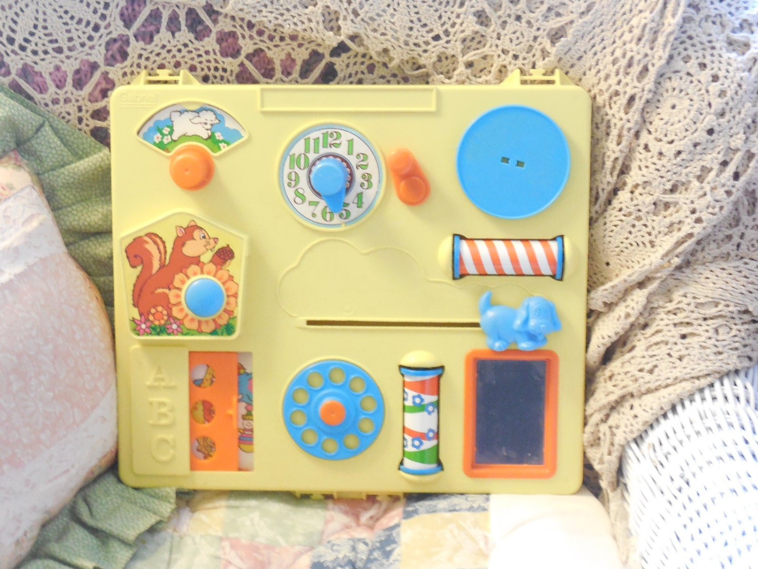 Vintage crib for sale - Vintage Baby Toy Vintage Crib Toy Gabriel Busy Box Activity Center Crib Toy 1975 S Not Included In Coupon Discount Sale S