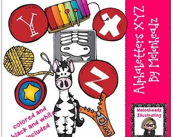 Alphabetters clip art Lettters XYZ