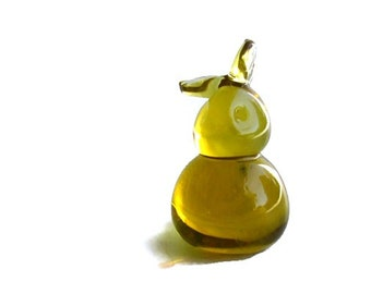 Modern Art Glass Bunny Paperweight Collectible Figurine, Easter Decor