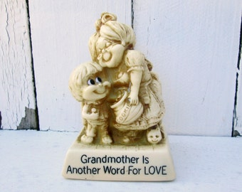 Vintage Russ Berrie #727 Grandmother is Another Word for Love 1978 Kitch