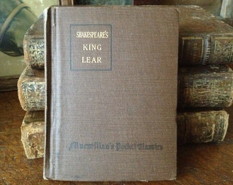 Shakespeare's Tragedy of King Lear ~ Antique 1916 ~ Hardcover Book ~ New York London