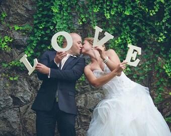 Wedding Love Sign , Wooden Letters, Wedding decor, Shelf Decor
