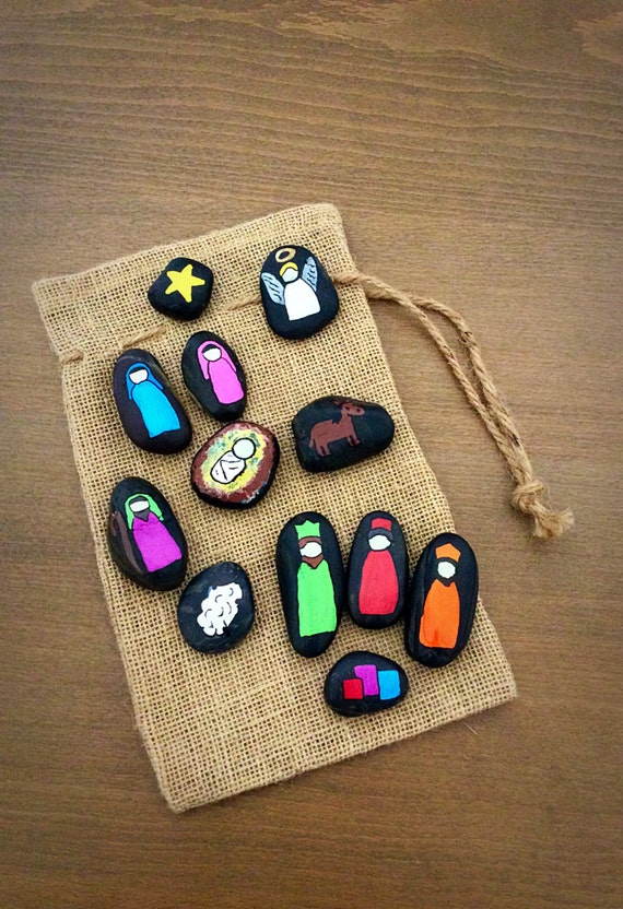 Nativity Scene Story Stones - Starry Girl Etsy Shop