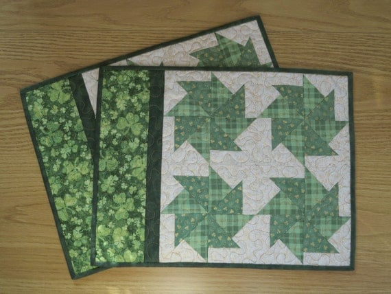 st patrick 39 s day quilted placemats 416