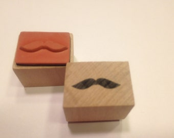 small / tiny mustache rubber stamp, 20 mm (SB3)