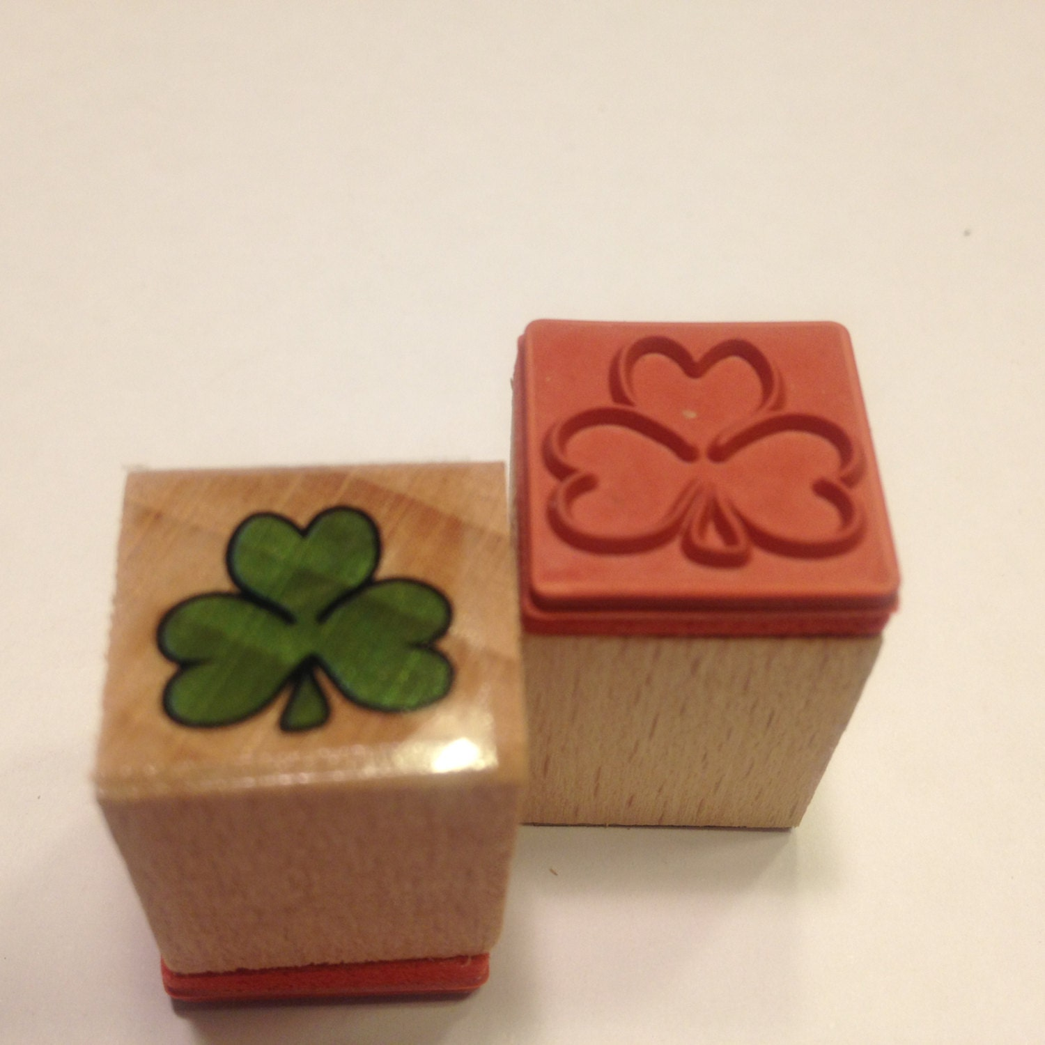 Small Shamrock Rubber Stamps 16 Mm Sb3 From