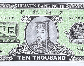 Heaven Bank Notes Money for the Afterlife 25 pcs FREE SHIPPING