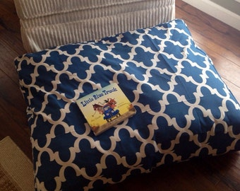 Large Floor Pillow, Bean Bag COVER ONLY